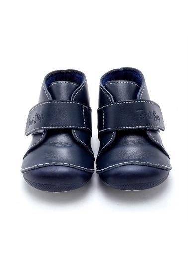 First Step Cırt Cırtlı Hakiki Deri Ortopedik İlk Adım Ayakkabısı  D-457 Lacivert